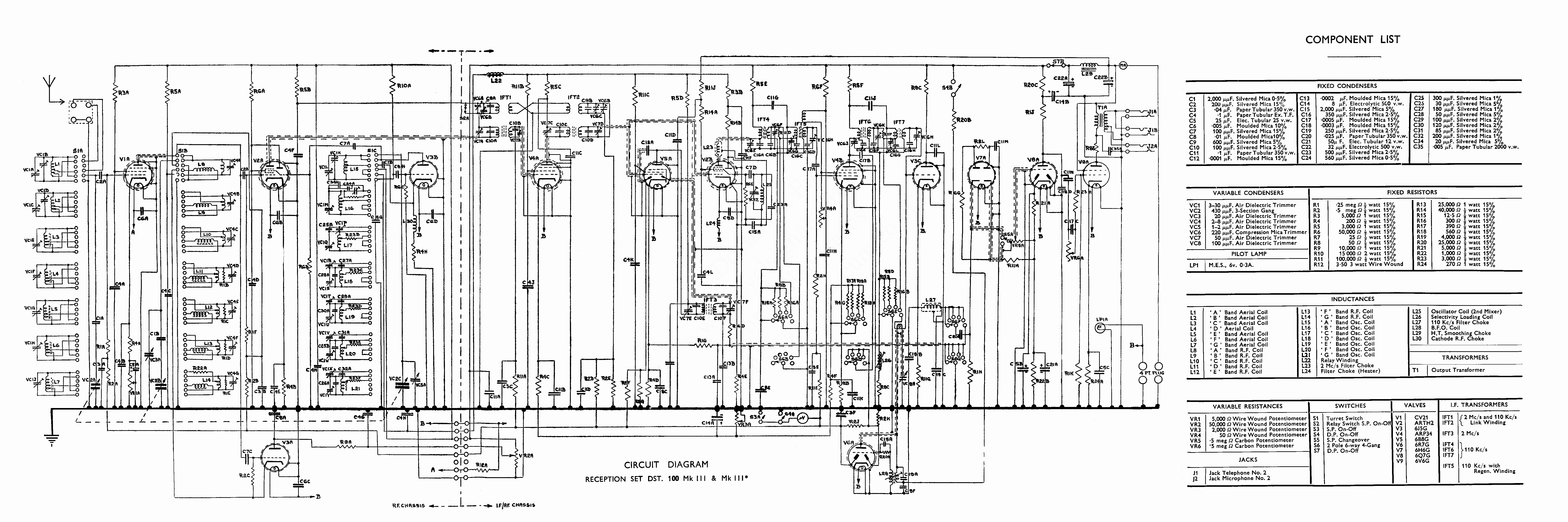 Dst100 Circuit Diagram With Labels Click The Label To See Large Parts List