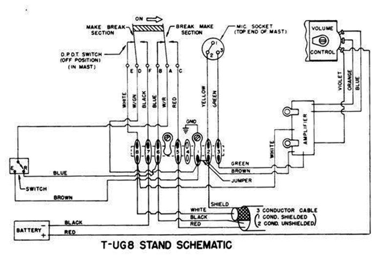 mikes astatic microphones wiring diagram